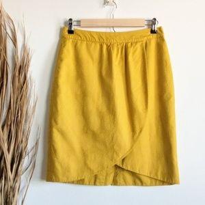 Anthro Edme & Esyllte Gold Jacquard Tulip Skirt